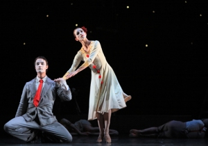 Kelly Myernick and Nicholas Leschke in Hush. Photo by Amitava Sarkar.