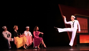 Ian Casady and Artists of Houston Ballet in Fancy Free.  Photo by Amitava Sarkar.