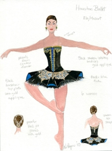 Woman's costume for ONE/end/ONE. Costume design by Holly Hynes. All rights reserved.