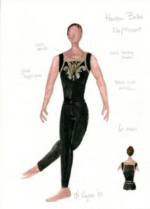 Man's costume for ONE/end/ONE. Costume design by Holly Hynes. All rights reserved.