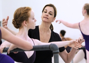 Shelly Power teaches class at Houston Ballet's Academy.