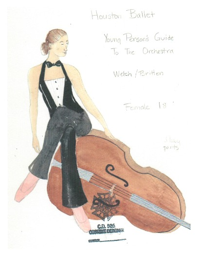 Costume sketch by Holly Hynes