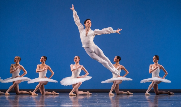 Etudes; Connor Walsh and artists of Houston Ballet; photo by Amitava Sarkar