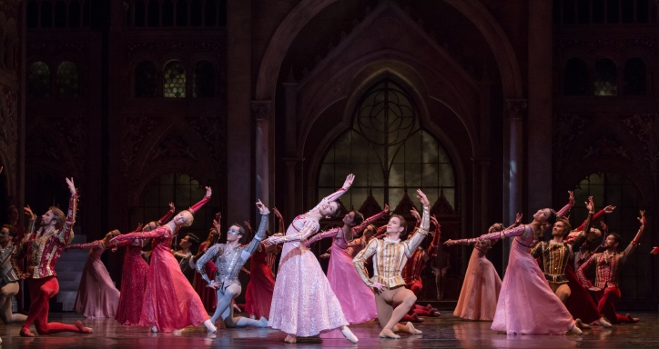 Stanton Welch's Romeo and Juliet; Artists of Houston Ballet; Photo by Amitava Sarkar