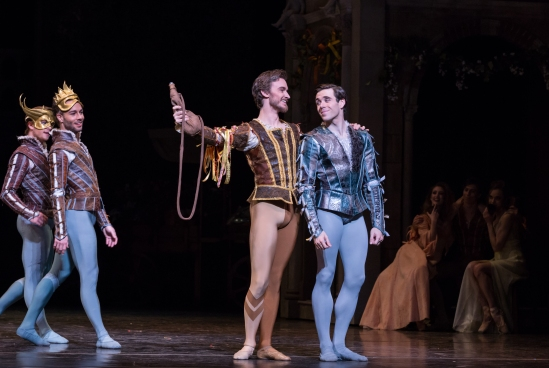 Stanton Welch's Romeo and Juliet; Connor Walsh, Jared Matthews, and Artists of Houston Ballet; Photo by Amitava Sarkar