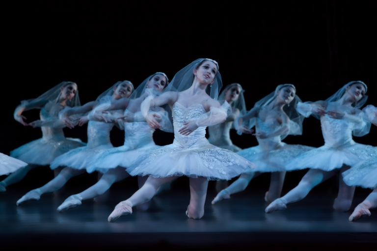 Artists of Houston Ballet; La Bayadere (Elise Elliott, Centered); Photo by Amitava Sarkar