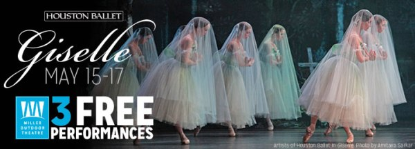 Giselle; Artists of Houston Ballet; photo by Amitava Sarkar