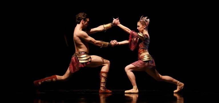 Melody Mennite and Connor Walsh as Scorpio; Photo By Amitava Sarkar
