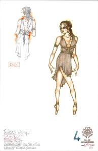 Taurus (Woman); Costume Sketches by Eduardo Sicangco