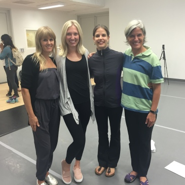 ECE teacher Ellie Blanchat with master teachers (L to R) Kelly Buwanda, Ellie Blanchat, Emily Meisner and Kay Gayner at the National Dance Institute Teacher Training in NYC.