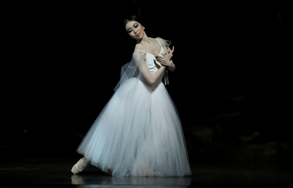 Yuriko Kajiya as Giselle; Act II. Stanton Welch's Giselle. June 2016. Photography by Amitvava Sarkar